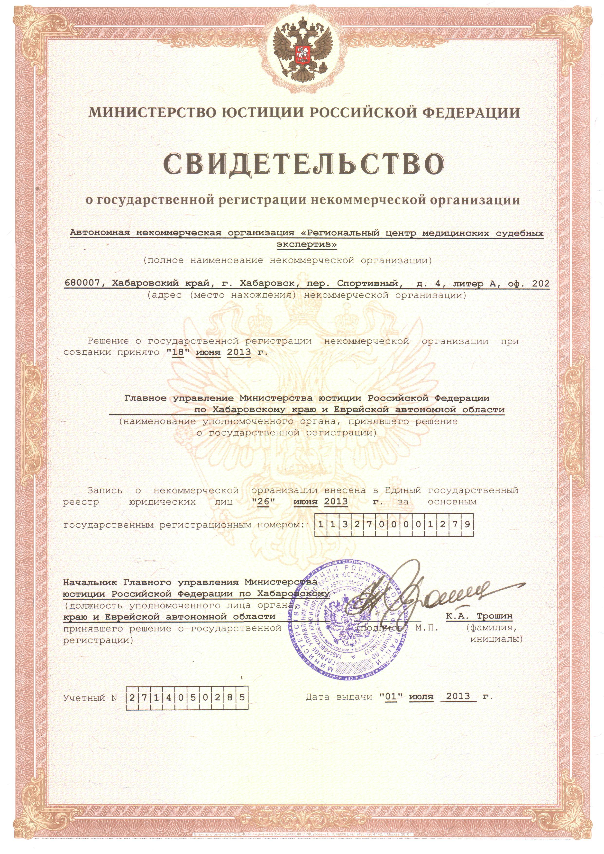 документы для регистрации некоммерческой организации в налоговой